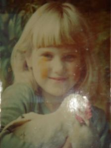 me at age 6 years old with Henny Penny